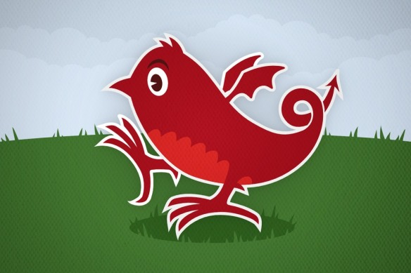 Welsh Twitter dragon logo by Foomandoonian