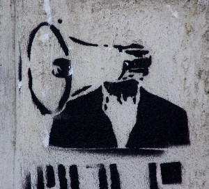 Megaphone graffiti image