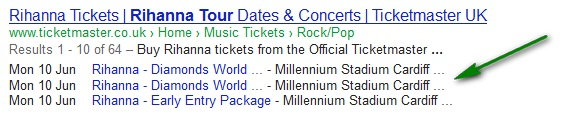 Rich Snippets - Tickets