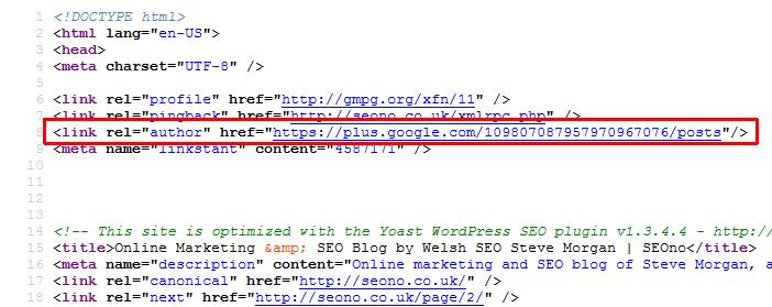 SEOno homepage source code screenshot