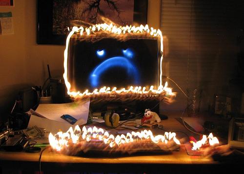 Angry computer image