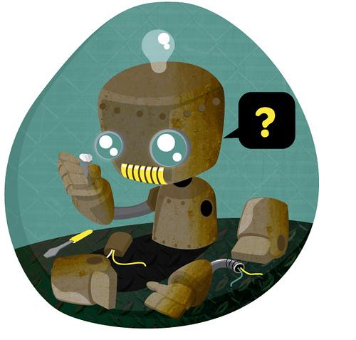 Broken robot image