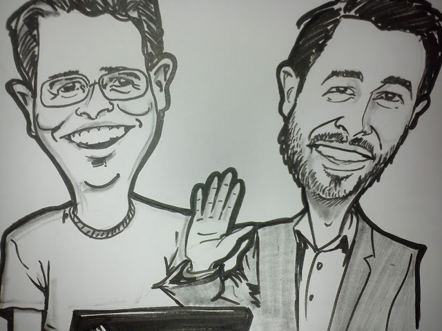 Matt Cutts caricature (with Rand) image