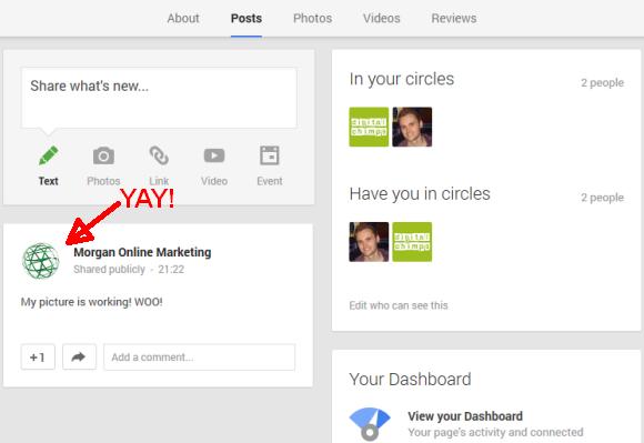 Google+ Local picture working screenshot
