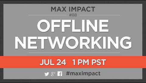 #maximpact Offline Networking logo