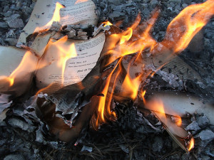Burning books image