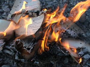 Burning books image