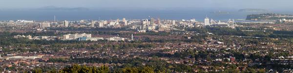 Cardiff panoramic shot