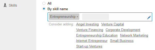 LinkedIn Ads Skill Targeting screenshot