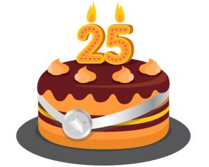CR 25 Cake logo