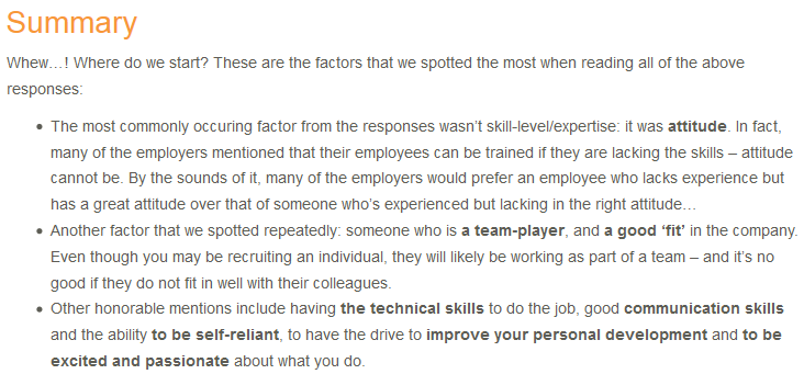 CR 25 What Do You Look For In An Employee? summary screenshot