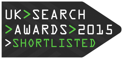UK Search Awards 2015 shortlist banner