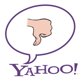 Yahoo! thumbs-down image