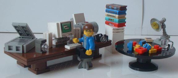 LEGO desk image
