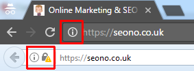SEOno SSL Mixed Content in browsers screenshot