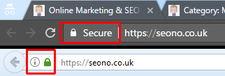 SEOno SSL Secure in browsers screenshot