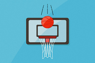 Basketball points illustration
